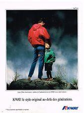 Publicité Advertising 1992 Les Vestes Imperméables K-Way par Franco Turcati