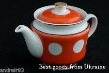 Vintage Teapot porcelain USSR CCCP Soviet Tirnopolsky Factory Polka-dot PD79