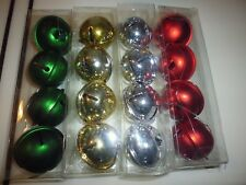 New !  4 Count Light Red Bells Christmas Ornament Holidays