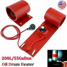 55 Gallon Silicone Band Drum Heater Oil Biodiesel Metal Barrel 200L 1000W Us