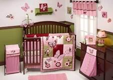 Emily 9 Piece  Crib Bedding Set W bumper  by Nojo -  Butterfly  Garden