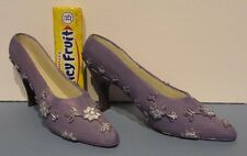 "VERY CUTE MINIATURE PAIR OF HIGH HEEL SHOES  3 3/4"" long in  WEDGEWOOD BLUE  P11"