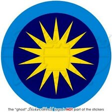 "MALAYSIA Royal Malaysian AirForce TUDM Aircraft Roundel 100mm(4"") Sticker-Decal"