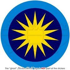 "MALAYSIA Royal Malaysian AirForce TUDM Aircraft Roundel 100mm(4"") Sticker-Decal"