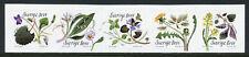 Sweden 2018 MNH Wild Flowers 5v S/A Strip Flora Nature Stamps