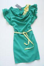 AIRPORT - green frill detail swing dress - M / UK 10 RARE!