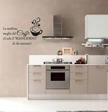 wall stickers adesivo cucina san valentino amore tazza caffè coffee bar a0714