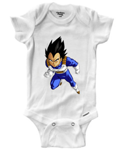 Infant Gerber Onesies Bodysuit One-Pieces Baby Gift Print Anime Vegeta Saiyan