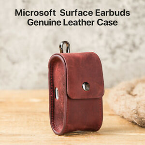 Earphone Storage Bag Leather Protective Cover For Microsoft Surface Earbuds Kits