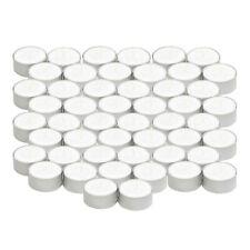 50er Pack Teelichter - weiße rußfreie Stearin-Teelichter 100% pflanzlich