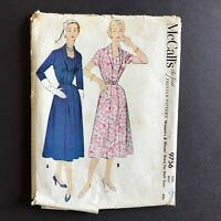 McCall's Misses Dress 1954 Sewing Pattern 9756 Size 16.5 Bust 37