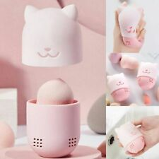 Beauty Makeup Blender Egg Sponge Puff Drying Stand Holder Storage Box Rack New