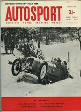 Autosport March 1st 1963 * bmc works voitures Sebring MGB & hiver canadien Rally *