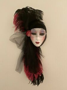 Unique Creations Lady Face Mask Wall Hanging Decor - GA