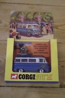Corgi Commer Van With Samuelson Film Services Camera and Cameraman Boxed No 479