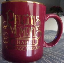Precious Moments Chapel Carthage Missouri Cup / Mug with Gold on Rim & Lettering