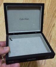 Calvin Klein Men's Valet Desk Box Watch Wallet Accessory Holder Stainless Steel