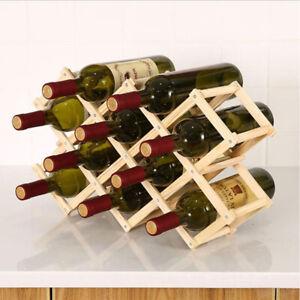 Collapsible Wooden Wine racks bottle cabinet stand Holders wood shelf organi I-
