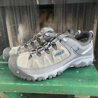 Keen Targee III Waterproof Hiking Shoes Mens 16 Gray 1017785 Leather Gray Blue