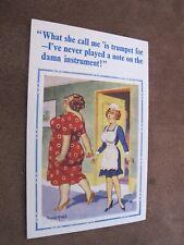 Constance Comic / Seaside humour postcard - Maid & Trumping lady - Donald McGill