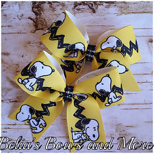 """Snoopy....Pigtails Bows 3.5"""" wide"""