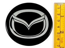 "MAZDA *4 x NEW* Emblems 70mm (2 3/4"") WHEEL CENTER CAP STICKERS 3D DECALS"