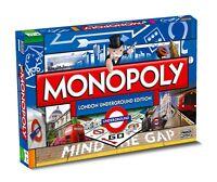 Original Monopoly London Underground englisch Gesellschaftsspiel Brettspiel NEU