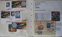s1858) Raumfahrt Space Kosmos Sojus 26 - 40 Sammlung mit vielen Autogrammen