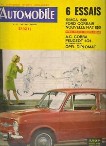 L'AUTOMOBILE 217 1964 AC COBRA 289 FIAT 850 FORD CORSAIR GT SIMCA 1500 DIPLOMAT