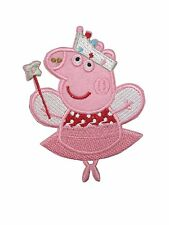 Peppa Pig Embroidered Logo Iron On / Sew On Patch
