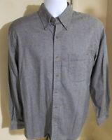 Men's Medium (15-15.5) Lands' End Long Sleeve Button Down Shirt