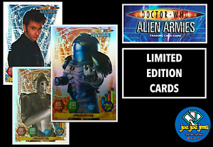Panini Dr Doctor Who Alien Armies Cards - LIMITED EDITION - Sontaran, Martha etc