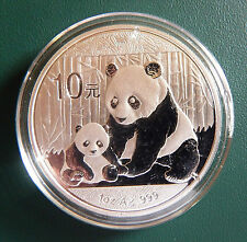 2012 China Panda 1 oz 999 Silver coin in plastic air-tite