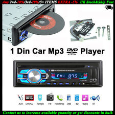 Single 1 Din Car Radio DVD CD MP3 Player BT FM Stereo Audio In-dash USB/AUX/SD