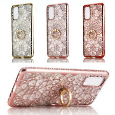 For Samsung Galaxy S20 Ultra S20+ Bling Diamond Ring Holder Stand TPU Case Cover
