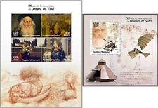Leonardo da Vinci Artistico Dipinti Invenzioni MNH Francobolli Set