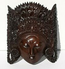 Vintage Hand Carved Wood Wall Mask