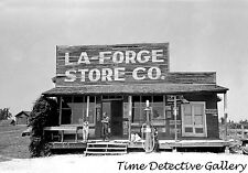 Country Store with Gas Pump, La Forge, Missouri - 1938 - Historic Photo Print