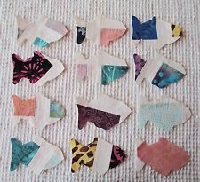 AA53 Iron On Sew On Appliques from Modern Cutter Quilt Blocks, Set of 12 Fish