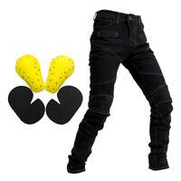 Motorrad Reit Herren Jeans Fly Racing Resistance Pants Schwarz XXL
