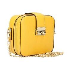 Handtasche kleine Tasche echtes ital. Leder Damen Tasche Gelb Umhängetasche