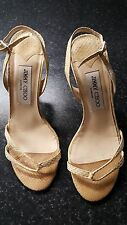 JIMMY CHOO 100% Authentic Italian Leather Slingback Sandals  - Size 5