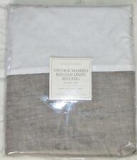 Restoration Hardware Vintage Washed Belgian Linen Twin Bed Skirt Graphite Gray