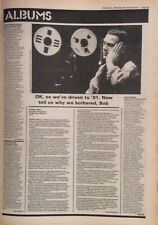 ROBERT FRIPP - GOD SAVE THE QUEEN - ORIGINAL ALBUM REVIEW - NME - 15/03/1980