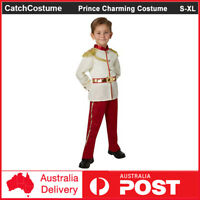 Kids Prince Charming Cosplay Costume Boys Child Royal Fairy Tale Book Week Suit