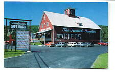 St. Johnsbury VT Farmer's Daughter Gift Shop Cool Sign Postcard1960s