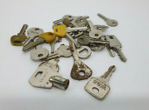 30 old BOX, CABINET, CUPBOARD KEYS, various shapes and sizes