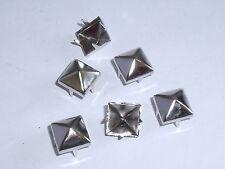 100  Stück Pyramidennieten Krallennieten Nieten  9x9mm  silber NEUWARE  rostfrei