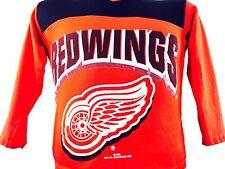Vintage Detroit Red Wings Shirt NHL Hockey Youth 1990s Michigan Kids Clothing