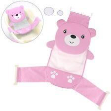 Baby Bath Seat Support Net Bathtub Sling Shower Mesh Newborn Cradle Girls Pink